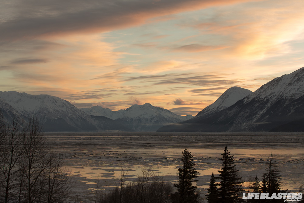 bohan alaska turnagain arm sunrise